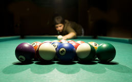 Playing billiard Stock Photography