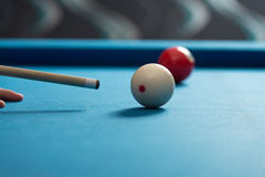 Playing Billiard Royalty Free Stock Photo
