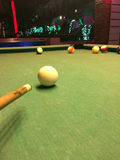 Playing the billiard Royalty Free Stock Photo