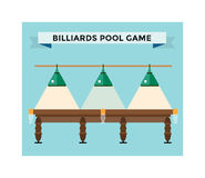 Playing billiard table concept vector illustration Stock Image
