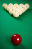 Playing billiards Royalty Free Stock Image