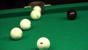Playing Billiards (Shot Ball in the Pocket HD) stock video footage