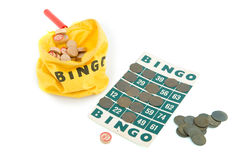 Playing Bingo Stock Image