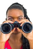 Playing with binoculars Royalty Free Stock Images