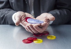 Playing blackjack or managing risk at work Royalty Free Stock Photo