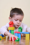 Playing with blocks Stock Photo