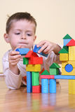 Playing with blocks Royalty Free Stock Photos