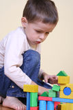 Playing with blocks Stock Photos