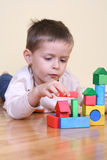 Playing with blocks Royalty Free Stock Photography