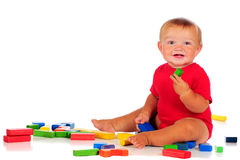 Playing Blocks Royalty Free Stock Photography
