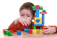 Playing with blocks Stock Images