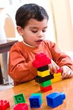 Playing with blocks royalty free stock photo