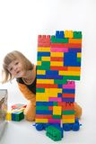 Playing with blocks royalty free stock images