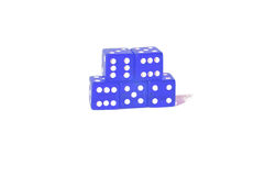 Playing blue dices Royalty Free Stock Image