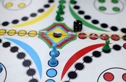 Playing Board Game. Close up of board game, playing board games stock photos