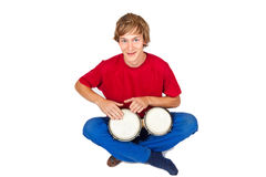 Playing bongos Royalty Free Stock Photography