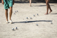 Playing boules in France Royalty Free Stock Images