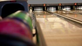 Playing bowling Stock Photo