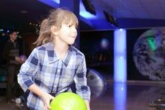 Playing bowling Stock Image