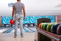 Playing bowling Royalty Free Stock Photography