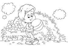 Playing boy vector illustration