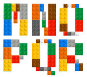 Playing brick toy alphabet letters Stock Photos