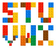 Playing brick toy alphabet letters Royalty Free Stock Images