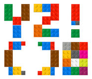 Playing brick toy alphabet letters Royalty Free Stock Photography