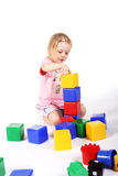 Playing with bricks Royalty Free Stock Photography