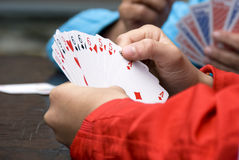 Playing bridge Royalty Free Stock Photography
