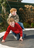 Playing Brothers royalty free stock photo