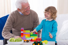 Playing with building blocks Stock Images