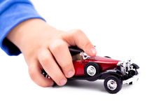 Playing with car Stock Photo