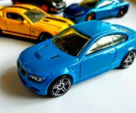 Some cars. Playing car models Stock Images