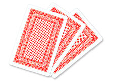 Playing card. Back of three Playing card Stock Photos