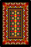 Playing card 60x90 mm ornament back side stock illustration