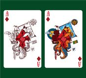 Playing card ace of diamonds. Vector illustration stock illustration