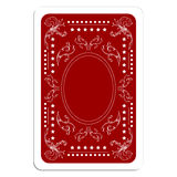 Playing card back Stock Photo