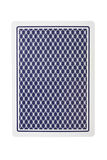 Playing card from back. Isolated over white background Royalty Free Stock Photography