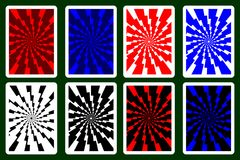 Playing Card Back. Designs - lightning bolt - vector pattern, vector set vector illustration