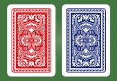 Playing Card Back Designs. Royalty Free Stock Images