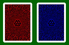 Playing Card Back. Designs, Valknut vector pattern royalty free illustration