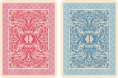 Playing Card Back Designs. Stock Photography