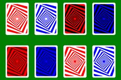 Playing Card Back. Designs - square pattern, vector set royalty free illustration