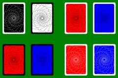 Playing Card Back. Designs - square pattern, vector set vector illustration
