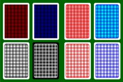 Playing Card Back. Designs - striped pattern, vector set vector illustration