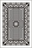 Playing Card Back Side 60x90 Mm Royalty Free Stock Photos