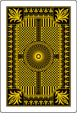Playing card back side 62x90 mm Stock Images