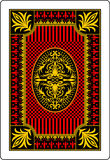 Playing card back side 62x90 mm Royalty Free Stock Images