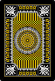 Playing card back side 62x90 mm Royalty Free Stock Photography